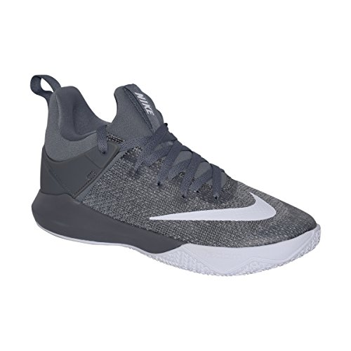 NIKE Mens Zoom Shift Basketball Shoe (Cool Grey/White, 8 D(M) US)