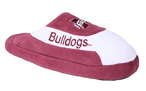 Happy Feet Mens and Womens OFFICIALLY LICENSED NCAA College Low Pro Slippers Mississippi State Bulldogs