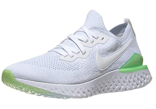 1db3ad1badeab Nike Men s Epic React Flyknit 2 Running Shoe White Lime Blast White 11.5 M