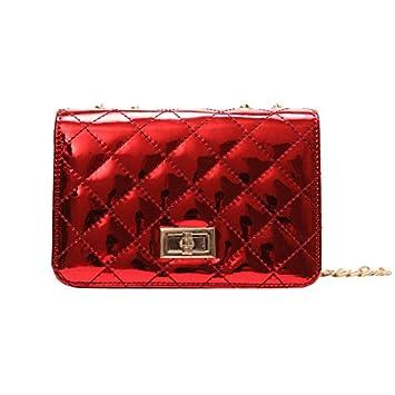 1ca5dfa97b1 KLXEB Vrouwen Laser Diamant Rooster Messenger Bag Spiegel Handtas Turn De  Lock Dames Luxe Handtas Mode