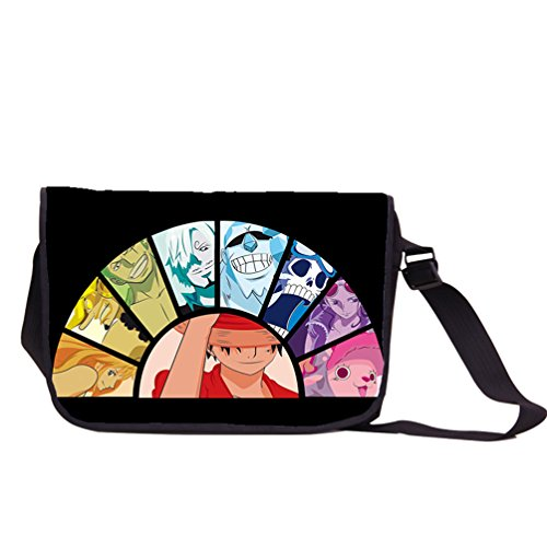 YOYOSHome One Piece Anime Luffy Cosplay Messenger Bag Backpack Shoulder Bag (One Piece Anime 3ds Case)