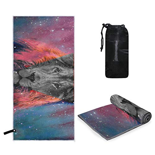 Perfectly Customized Microfiber Pool Oversized Towel Galaxy Tumblr Tiger Quick Dry Super Absorbent Lightweight Towel for Travel Swimmers, Sand Free Beach Towels for Kids & Adults, Water Sports]()