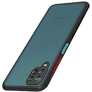 TheGiftKart Smoke Back Cover Case for Samsung Galaxy M12 / A12 / F12 (Hybrid TPU & PC | Smoked Hard Back | Black Bumper)