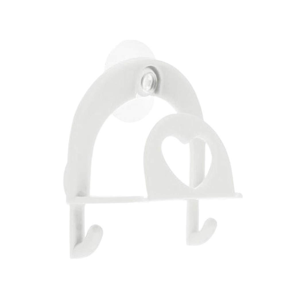 Creazy Cute Sponge Holder Suction Cup Convenient Home Kitchen Holder Tools Gadget Decor (White)