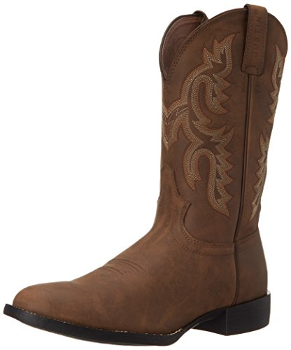 """Justin Boots Men's 3001 Farm & Ranch 11"""" Boot Low Profile Round Toe Rubber Outsole,Crazy Cow,9 D US"""