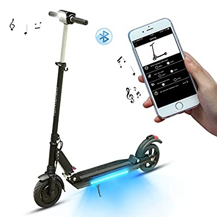 SUPERTEFF Patinete eléctrico, Scooter eléctrico, Patinete eléctrico Adulto, patinetes eléctricos, Freno eléctrico, Pantalla LCD, Altavoz de música, ...