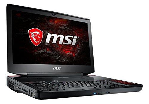 MSI GT83VR 7RF-206 Titan SLI (46,7 cm/18,4 Zoll) Gaming-Notebook (Intel Core i7-7920HQ, 1 TB HDD + 512 GB SSD, 64GB RAM, Nvidia Dual GeForce GTX 1080, Windows 10 Home) schwarz GT83