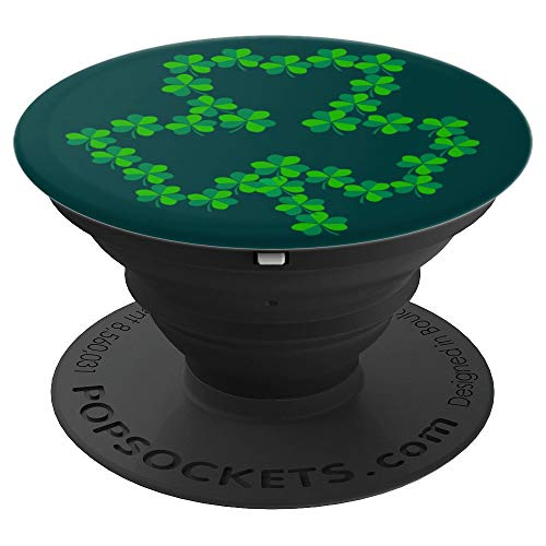 Shamrock Shape Made with Shamrocks - PopSockets Grip and Stand for Phones and Tablets