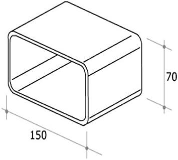 Tubo Campana Cocina Junta rectangular 150 x 70 mm f 126: Amazon.es: Hogar