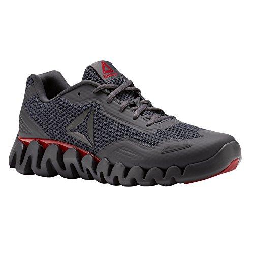Reebok Heren Zigpulse-se Sneaker Sport - Ash Grijs / Uitstekende Rood / Zwart