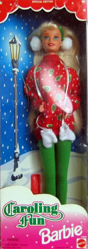 Caroling Fun Barbie 1995