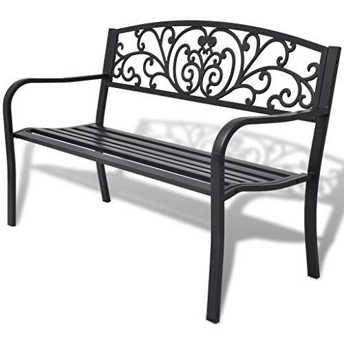 K&A company Garden Bench Black Cast Iron