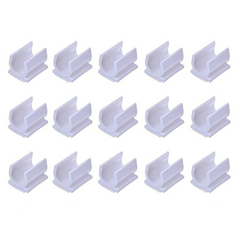 VNDEFUL 10PCS White Color Pen Adhesive Clip Holder for for Pen Paint Brush to Stick on White Board Desk, Wall, Car