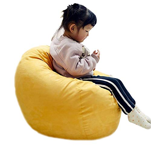 """HOME-SOFA Beanbag Chairs for Kids, Foam Filled Beanbag Seat Indoor Outdoor Garden Tatami Soft Children's Chair with Washable Cover (20"""" L x 20"""" W x31 H) from HOME-SOFA"""