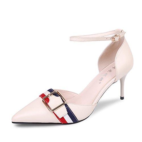 Sandalias De Tacón Alto/Zapatos Finos Y Huecos Del Bolso/Zapatos De Mujer Sexy Y Puntiagudo A
