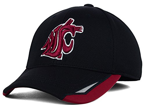 Washington State Cougars Fitted Cap - Washington State Cougars Top of the World NCAA One Fit CUT UP Stretch Fitted Hat Cap (Small/Medium)