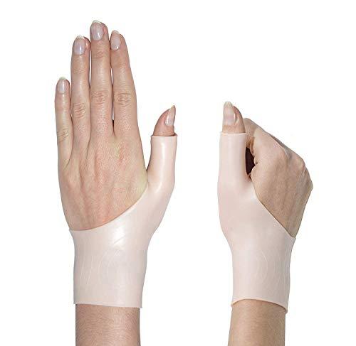 Wrist Brace - Gel Support for Women, Men & Kids - 1 Pair Bracers for Left & Right Hand, Pain Relief for Carpal Tunnel, Tendonitis, Arthritis, Tenosynovitis - Soft, Comfortable & Light Weight