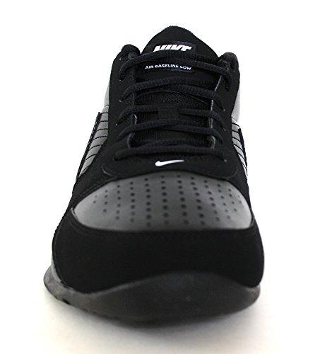 Nike Baseline Lage Heren Ronde Neus Lederen Basketbalschoen Zwart / Zwart / Wit