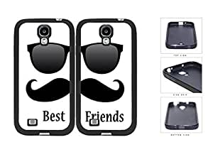 Best Friends Black Mustache Sunglasses Rubber Silicone TPU Cell Phone Case Samsung Galaxy S4 SIV I9500