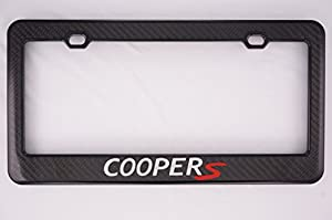 mini cooper s carbon fiber license plate frame - Mini Cooper License Plate Frame