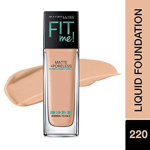 - Maybelline Fit Me Matte + Poreless Liquid Foundation Makeup, Natural Beige, 1 fl. oz. Oil-Free Foundation