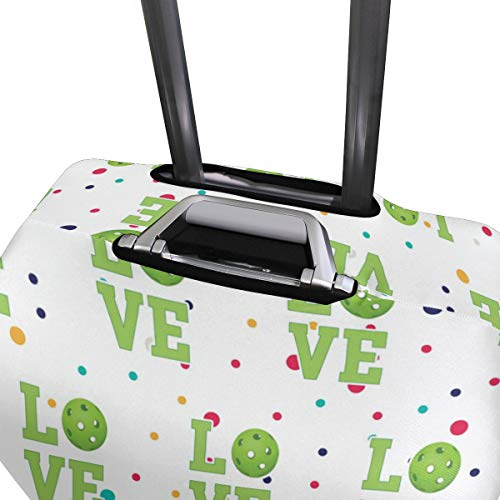 Love Pickleball Travel Luggage Cover - Suitcase Protector HLive Spandex Dust Proof Covers with Zipper, Fits 18-32 inch by HLive (Image #3)