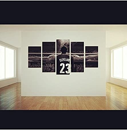 Amazon.com: Lebron James Cleveland Cavaliers, Canvas Wall Art Framed ...