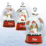 Ganz Snowglobes Sharon * Glass Personalized Christmas Ornament