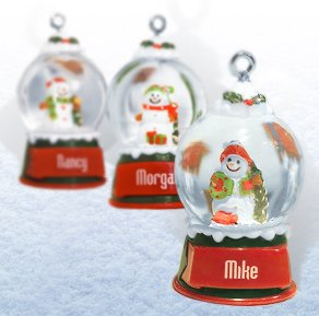 Ganz Snowglobes Cheryl * Glass Personalized Christmas Ornament