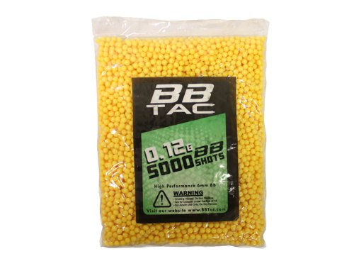 BBTac Airsoft BB 5,000 Round 0.12g 6mm BBS para paleta de munición Airsoft Guns