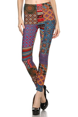 LA12ST Women's Fashion Classic Printed Leggings