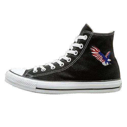Hilo Canvas Shoes American Eagle Hi-Top Unisex Canvas Sneaker- Season Lace Ups Shoes Casual Trainers Men And Women 40 (Bass Canvas Jeans)