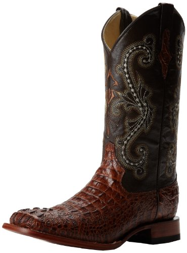 Ferrini Men's Print Crocodile S-Toe Western Boot,Sport Rust,11 D US