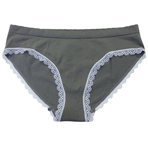 Coobie Seamless Bikini Panties (One Size, Medium Gray)
