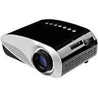 Simplebeam Mini LED Projector GP8S 480X320 120 Lumens Private Home Theater Support 1080p via HDMI VGA AV USB Port Video Music Movie Indoor Using