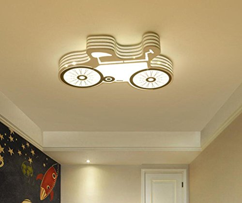 GFFORT Children's Room Light Girls bedroom light ceiling LAMP LED light princess warm rooms stars romantic Guitar lights ,65cm,A by GFFORT Ceiling lamp