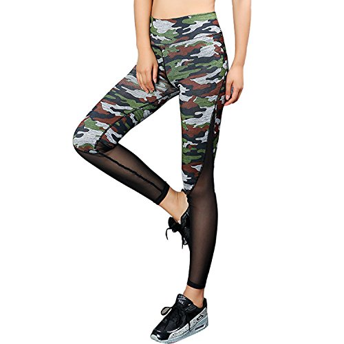 Tulucky Patchwork Stretchy Workout Leggings