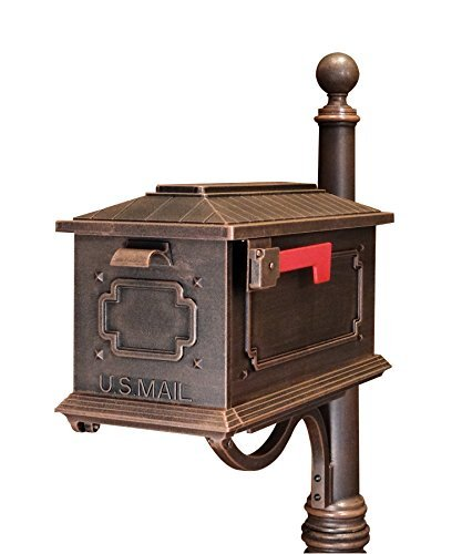 - Special Lite Products SCK-1017-CP Kingston Curbside Mailbox, Copper