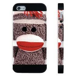 Houseofcases Sock Monkey iPhone 5/5S Case - Hybrid Plastic And Durable Silicon iPhone 5/5S Case