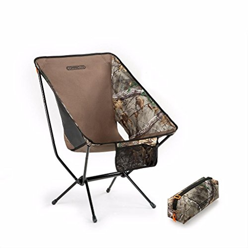 Compaclite Oversize Steel Camping Portable Chair for Outdoor Hunting / Camping / Picnic / Hiking / Bicycling / Fishing / BBQ / Beach / Patio with Carry Bag, (Steel Carry Bar)