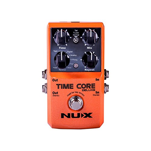 Nux Time Core Deluxe | Digital Guitar Pedal with Delay Loop Machine Effects