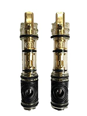 Pro Parts Plus 1225-2-PPP Dual-Seal Cartridge Replacement Kit (2 Pack) - Fits Single Handle Faucets/Showers - Lead Free - Brass Internal Shaft with Installation Instructions