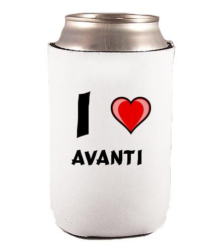 Custom Beverage Can / Bottle Cover (Coolie) with I Love Avanti (first...
