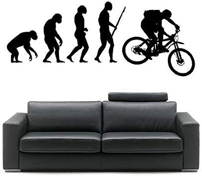 Wwjwf Darwin Evolución Del Hombre Bicicleta De Montaña Vinilo ...