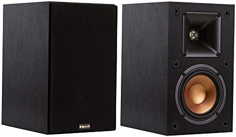 Klipsch R-14M 4-Inch Reference Bookshelf Speakers Pair, Black