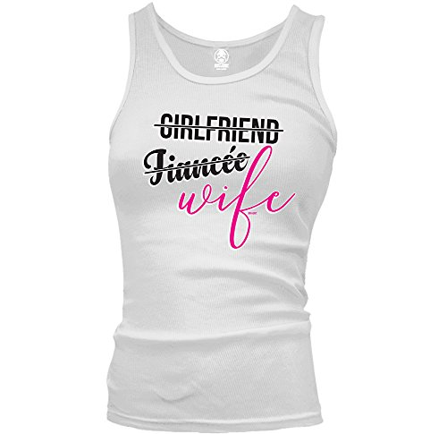 Girlfriend, Fiancee, Wife - WAG Upgrade Swift Pigeon Ladies Beater Tank Top (Medium WHITE)