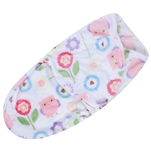 Baby Swaddle Wrap Blanket Sleeping Bag(owl) - 1