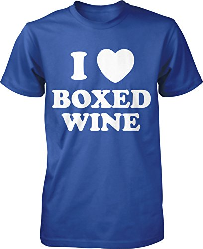 Hoodteez I Love Boxed Wine, Cheap Wine Lover Men's T-Shirt, S (Boxed Wine T-shirt)