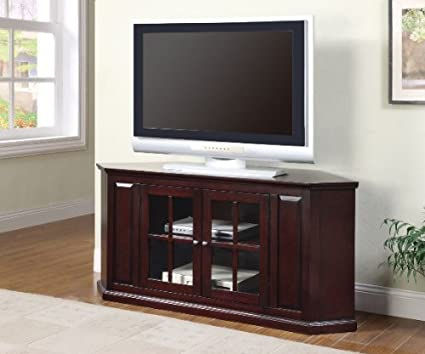 Amazon Com Coaster 55 Inch Two Door Corner Tv Stand By Coaster