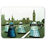 Doctor Who - The Daleks invade London - Mouse Mat Art247 Highest Quality Natural Rubber Mouse Mats - Mouse Mat